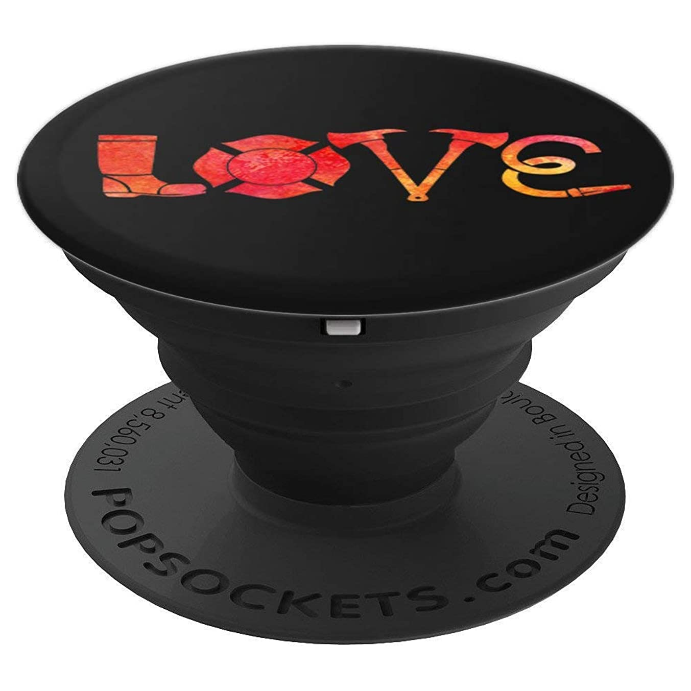 love Firefighter Shirt Firefighter Gifts for men Firefighter - PopSockets Grip and Stand for Phones and Tablets
