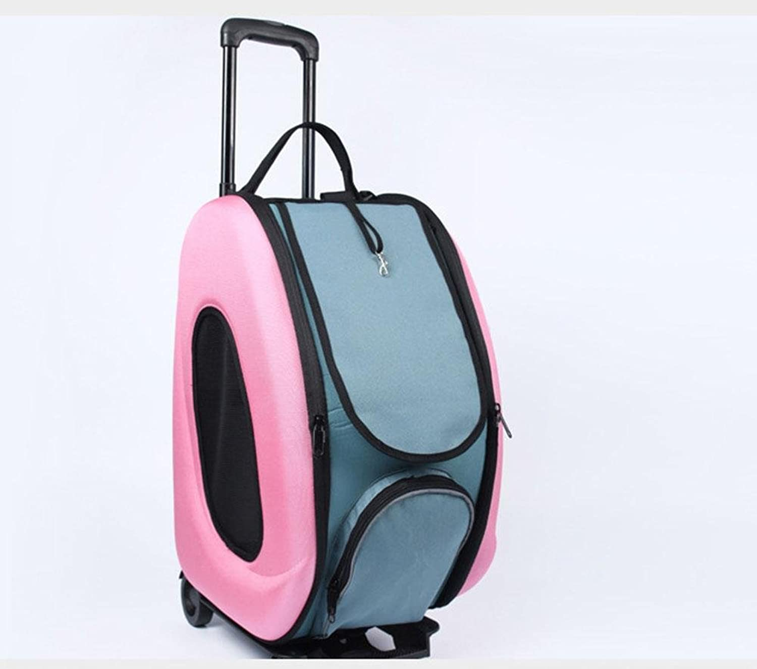 Pet Stroller Dog Trolley Backpack with Top Window Suitable,503330 cm , Pink