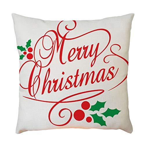 Fasclot Merry Christmas Santa Snowman Linen Pillowcase Sofa Pad Set Home Decor 18x18In Home & Garden Pillow Case