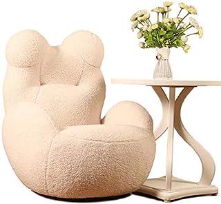 Kid Sofa Chair,Super soft and comfortable lamb wool Bear Shape Child Seat