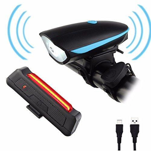 Luci per bicicletta,CAMTOA LED Set Luce della Bici USB...