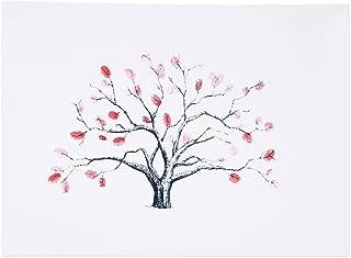 Canyita Árbol de Huellas Dactilares, 4 Tipos de Lienzo de árbol de Huellas Dactilares/Huellas Dactilares Firma Personal del invitado a la Boda (Tinta de 6 Colores)(HK001)