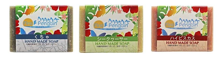 手作り洗顔石けん (くちゃ、シークヮーサー、ハイビスカス)