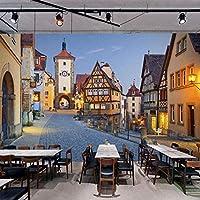 Bosakp 3Dウォールステッカー装飾壁画壁紙建物ヨーロッパイタリア都市ストリート風景テクスチャアートキッズルーム家の装飾 200X140Cm