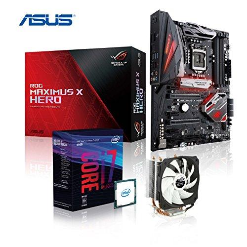 Memory PC Gaming Aufrüst-Kit Bundle i7-8700, ASUS ROG Maximus X Hero Z370 Gaming, komplett fertig montiert und getestet