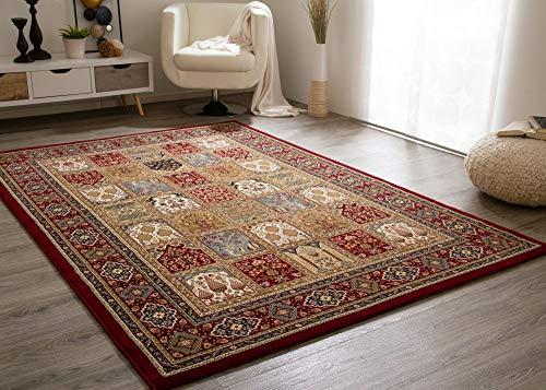 Steffensmeier Wohnzimmerteppich Classical Quality | Kurzflor Teppich rot, Größe: 160x230 cm, orientalisch gemustert