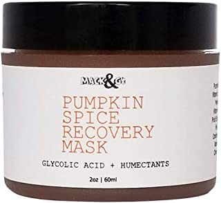 Pumpkin Spice Recovery Facial Mask   Rich Exfoliating Enzyme Puree   Brightens and Smooths Skin 2 OZ