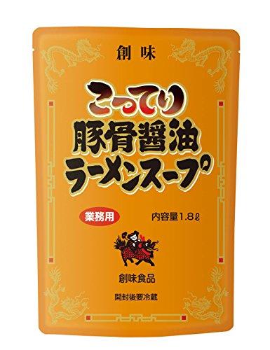 創味 こってり豚骨醤油ラーメンスープ 1.8L