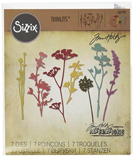 Sizzix Thinlits Fustella, Fiori Selvatici