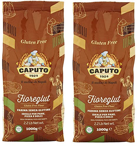 Antimo Caputo Gluten Free Pizza Flour 2.2lb - All Natural Multi Purpose Flour & Starch Blend for Baking Pizza, Bread, & Pasta (2 Pack)