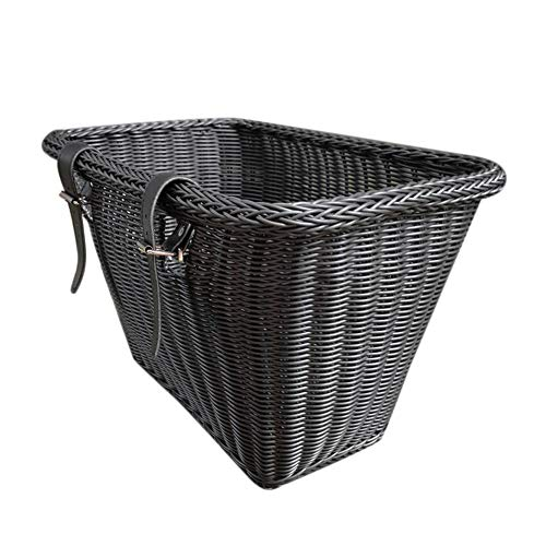 Bike Basket for Children Adults,Waterproof Wicker Hand-Woven Bike Basket with Adjustable Belt,Bicycle Front Handle Storage Basket,Suitable for Boys and Girls Bicycle and Shopping Basket