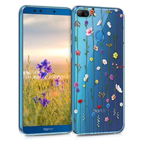 kwmobile Hülle kompatibel mit Huawei Honor 9 Lite - Handyhülle - Handy Hülle Wildblumen Ranke Mehrfarbig Transparent