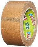 tesa 55337-00002-01 Paper ecoLogo - Lote de precintos de embalaje (3 unidades, producto ecológico) color marrón, 50m x 50mm