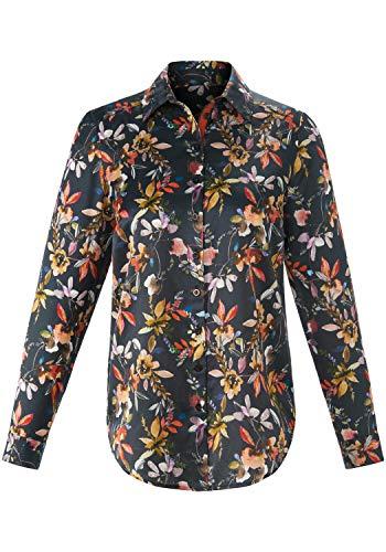 EMILIA LAY Damen Langarmbluse Bluse mit Kentkragen