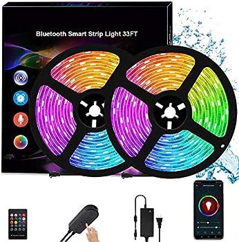 Vegasigns 33 ft Bluetooth Music Strip Lights