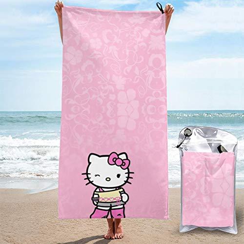 JJKKFG-H Hello Kitty - Toalla de microfibra de secado rápido para toallas de baño suaves, para piscina, natación, viajes, playa, gimnasio, deportes, 27.5 x 55 pulgadas