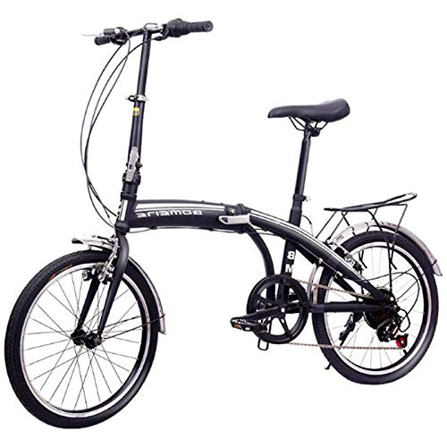 MYANG 20' Lightweight Alloy Folding City Bike Bicycle,Magnesium Frame,with Ajustable Seat,Black