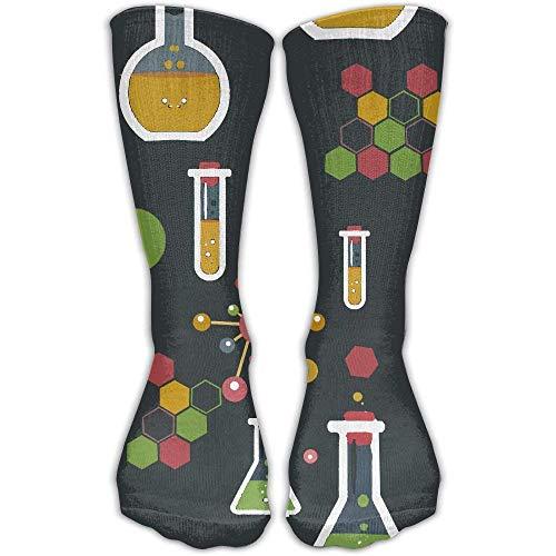 GHJL Kompressionsstrümpfe für Damen, witzig, Chemistry Science Athletic Tube.jpg, Baumwolle, Rundstricke, 30 cm