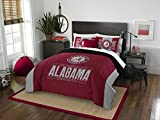 Alabama Crimson Tide - 3 Piece FULL / QUEEN SIZE Printed Comforter & Shams - Entire Set Includes: 1 Full / Queen Comforter (86' x 86') & 2 Pillow Shams - NCAA College Bedding Bedroom Accessories