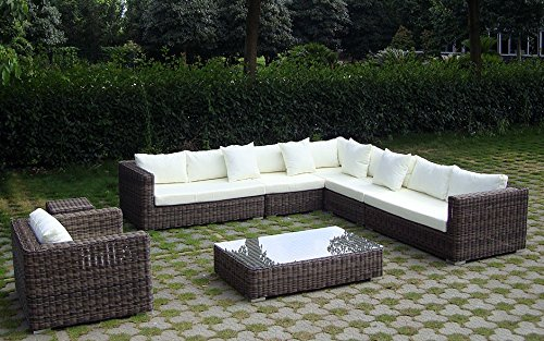 Baidani Rattan Garten Lounge Garnitur Heritage