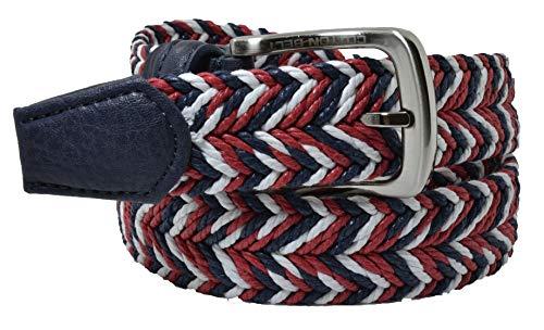 Cotton Belt, Cintura in Corda Uomo e Donna, Accorciabile Rosso e Blu Mix 125 (tg 54-56)