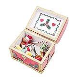 Odoria 1/12 Miniatur Weihnachten Décor Aufbewahrungsbox Holz mit Geschenk Puppenhaus Dekoration...