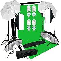 2* softbox professionnel 4 Parapluie réfléchissant: avec 50x70cm de grande surface qui a de haute puissance de réflexion, une forte matière réfléchissante, et la peinture fraîche, softbox creé des lumières plus uniformes et lisses. 4 Parapluie réfléc...