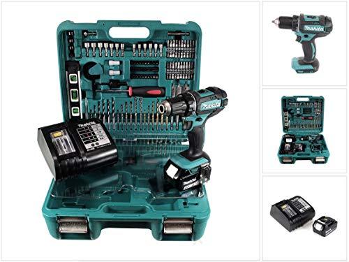 Makita DDF 482 STTK Akku Bohrschrauber 18V 62Nm + 5,0 Ah Akku + Ladegerät + 101 tlg. Werkzeugset