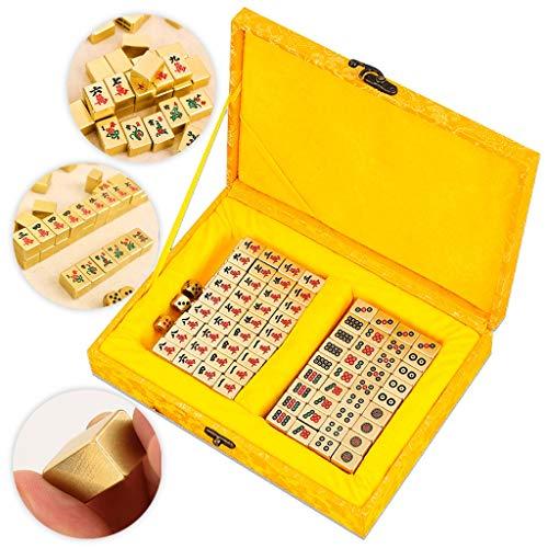 Mah Jong 144 Mahjong Personalizado Conjunto Mahjong de latón Mini Travel Mahjong...