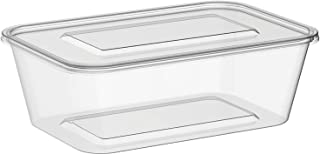 Microwavable Food Container Clear Rectangular - 1000ml - (250)