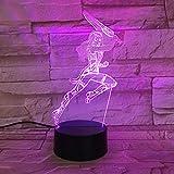 Hero Woman Friend USB Office 3D LED Lámpara de mesa de luz nocturna Mesita de noche Decoración Regalo de niños
