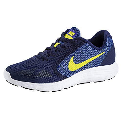 Nike Revolution 3 (GS) – Sneaker, Kinder, Blau (Blue Orbit/Black-Blue Jay-White)