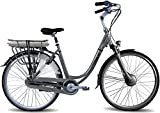 Vogue Premium E-Bike Bicicleta de ciudad de 28 pulgadas, 48 cm, para mujer 7G, color gris mate