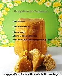 10 lbs Whole Organic Jaggery Gur (Panela) Raw Wholesome Brown Sugar