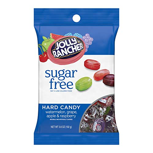 JOLLY RANCHER Hard Candy, Assorted Flavors, Sugar-Free, 3.6 Ounce Bag (Pack of 12)
