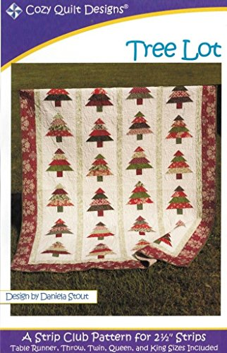 Tree Lot Quilt Pattern, Jelly Roll 2.5