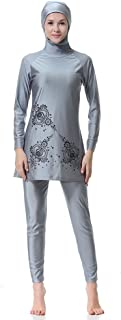 WOWDECOR Islamic Swimwear Muslim Swimsuits for Women Girl Full Cover Burkini Swimming Beachwear