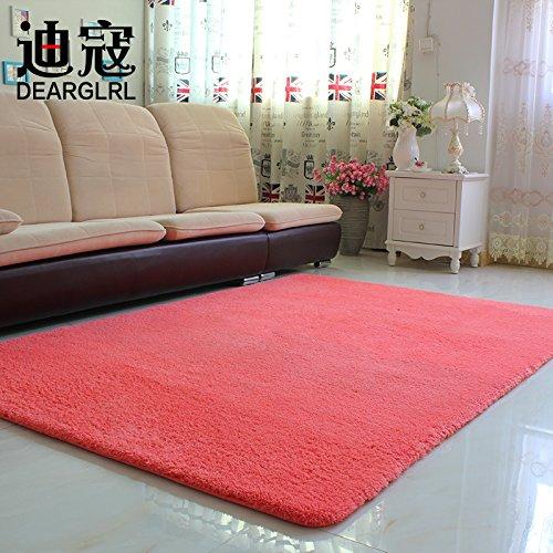 BLZZR*Minimalistisch modern tapijt voor woonhuis met stapelbedden, tafel en zwevende vensters, tatami-matten, 140 x 200 cm, eenkleurig, watermeloenrood