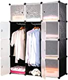 Tragbare Kleiderschrank Schuh Garderobenschränke mit Türen aus Kunststoff Aufbewahrungstasche...