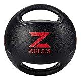 Médecine Balls en Caoutchouc Écologique Professionnel avec Deux Poignées pour la Musculation/Entraînement de Boxe/Équilibre/Exercice de Rééducation (3kg)