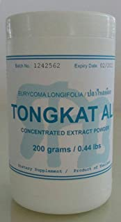 Tongkatali.org's Thai tongkat ali (testosterone support/male sexual health) extract, 200 grams (equivalent to 600 capsules)