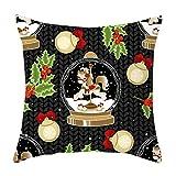 Junjie Weihnachten Kissenbezug Decor Kissenbezug Sofa Taille Throw Kissenbezug Pillow Cover Pillow Case Sofa Cushion Cover