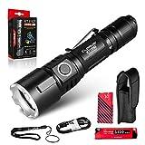 Klarus XT11GT 2000 lumens LED Lampe torche rechargeable, lampe de poche tactique puissante ultra lumineuse...