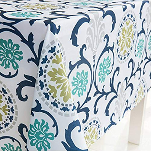 X-Labor - Mantel lavable rectangular, resistente al agua, tejido Oxford, fácil de limpiar, para jardín, habitaciones, decoración de mesa, azul, 140*240 cm