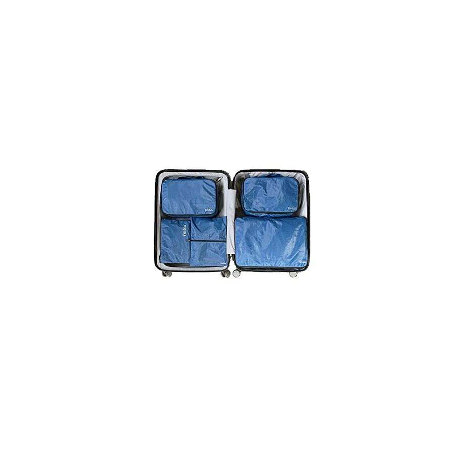 こねる聴衆送料HLD トラベルウォッシュバッグ化粧品袋セットポータブル防水収納袋仕上げ 収納袋 (Color : Blue, Size : Five-piece)