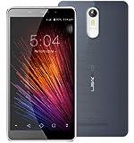 LEAGOO M8-5.7 Pulgadas 2.5D IPS Corning Gorilla Glass 4 Phablet Android 6.0 teléfono Inteligente Quad Core 1.3GHz 2GB RAM 16GB 8MP + 13MP Cámara Huella Digital - Gris Negro