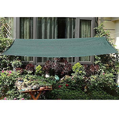 LSSB Verano Paño De Sombra De Jardín HDPE Anti-UV Verde Oscuro Solar Sombra Paño, para Pasillo Exterior/Balcón/Protección Solar del Coche/Cubierta Vegetal, Personalizable