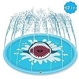Global Tronics Splash Pad 170cm, Spielzeug Sprinkler Play Matte Wasserspielzeug spielmatte Outdoor Sommer Garten Spielmatte für Party Sprinkler Spaß