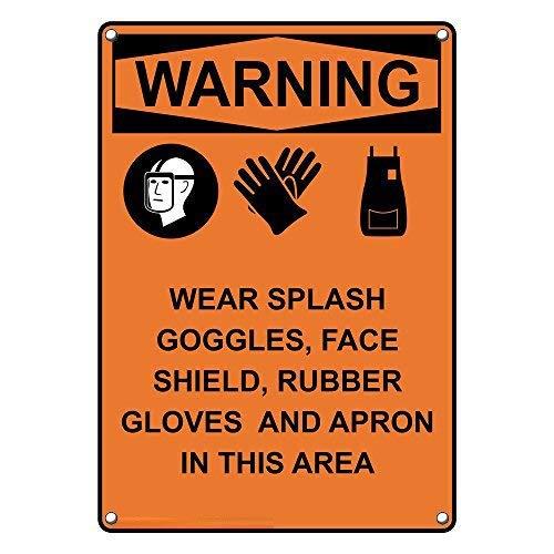 Vertikale OSHA Warn-Schutzbrille, Warnschilder und Schild aus Aluminium für Privathaushalt, Hof, lustiges Geschenk, 20,3 x 30,5 cm