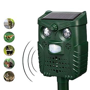 Répulsif à ultrasons pour chat, chat, chat, chien, renard, lapin, cerf, écureuil Vert